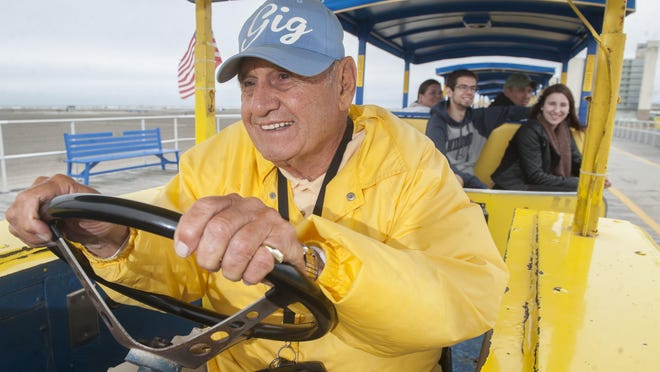 "John ""Gigi"" Gigliotti of West Deptford has been driving Wildwood's iconic Sightseer tram car for decades and is a staple of the Wildwood boardwalk."