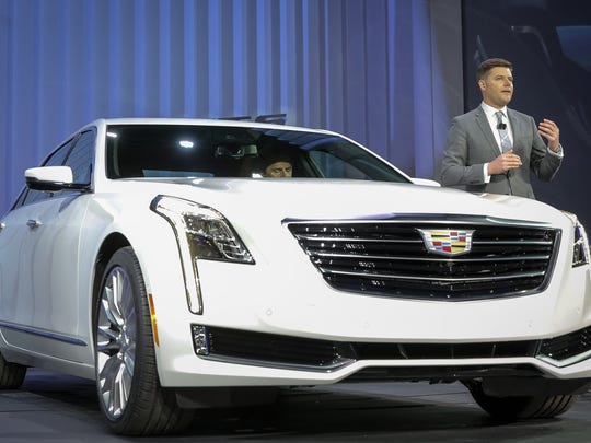 Cadillac Executive Director Global Design Andrew Smith unveils the CT6 today at a special event.