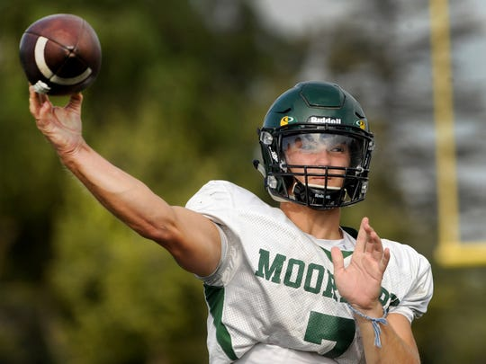 Tyger Goslin, who transferred from Chatsworth last winter, has thrown for 736 yards and 10 touchdowns in three games for Moorpark.