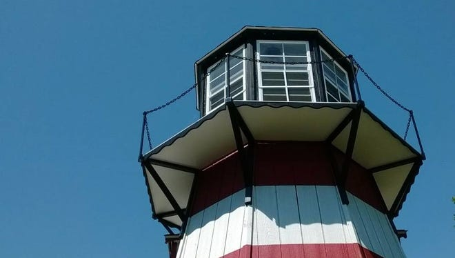 """The owner of this Maryland lighthouse is willing to swap it and a pair of cottages in exchange for a home in Punta Gorda, which he says is """"three steps from heaven."""""""