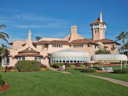 President Donald Trump's Mar-a-Lago estate in Palm