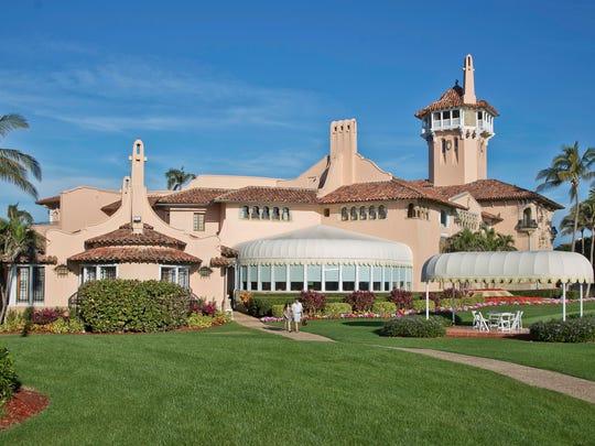 President Donald Trump's Mar-a-Lago estate in Palm Beach, Florida.