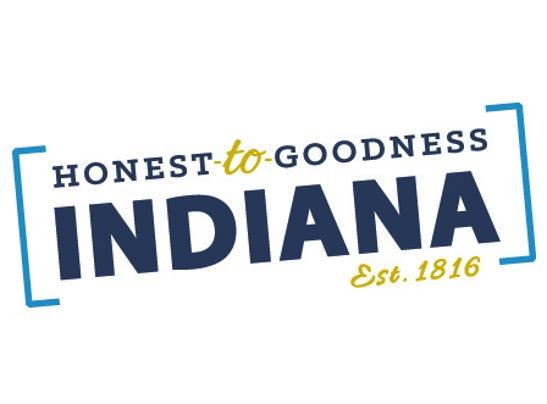Visit Indiana Honest-to-Goodness slogan logo