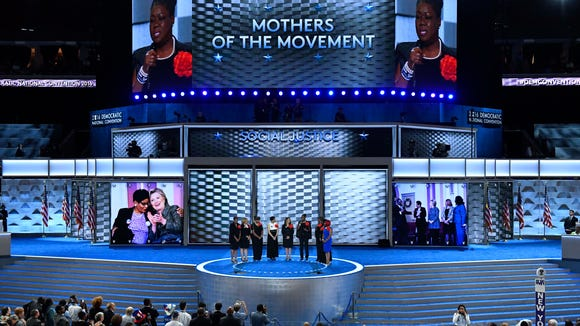 Mothers of the Movement take the stage during the Democratic