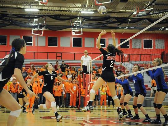 Rocori High School volleyball player Eleanor Holthaus