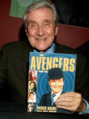 Actor Patrick MacNee during booksigning of his memoirs 'Blind In One Ear and the Avengers and Me' at the Egyptian Theatre February15, 2002 in Los Angeles, CA.