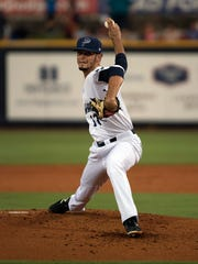 Blue Wahoos pitcher Jesus Reyes makes his third start for the  Wahoos during Wednesday's games against the Biloxi Shuckers.