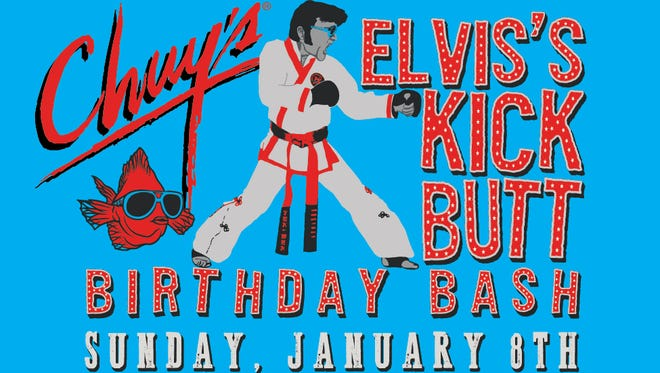 Chuy's, located at 5939 S. Padre Island Dr., will host Elvis Presley's 82nd Birthday Bash at 3 p.m. Sunday.
