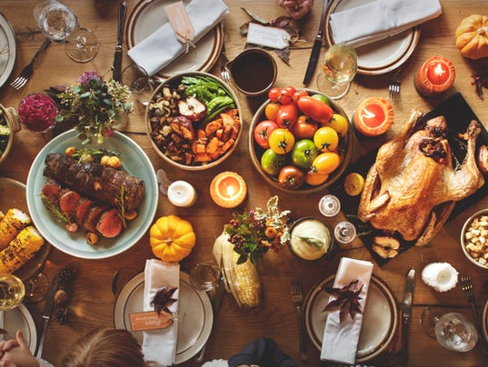 Thanksgiving Celebration Traditional Dinner Table Setting Concep