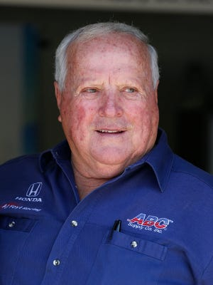 IndyCar Series car owner and four time Indy 500 winner A.J. Foyt works in the garage before the Grand Prix of Indianapolis at Indianapolis Motor Speedway. Foyt had triple bypass surgery on Nov. 12 and is still hospitalized due to a post-operative complication.