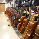 French Road Elementary School has an impressive number of school-owned instruments for their newest musicians to use.