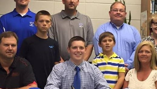 Polk County senior Konner Scroggs has signed to play college baseball for Limestone (S.C.).