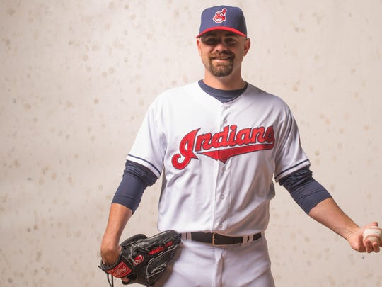 GOODYEAR, AZ - FEBRUARY 24: Marc Rzepczynski #35 of the Cleveland Indians poses for a portrait at Goodyear Ballpark on February 24, 2014 in Goodyear, Arizona.
