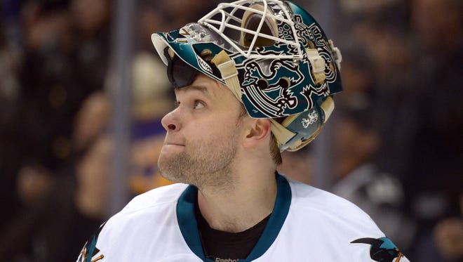 San Jose Sharks goalie Antti Niemi lost Games 4 and 5 and backed up in Game 6.