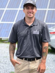 Mike Meibaum, Miebaum Lawn Care, stands outside the