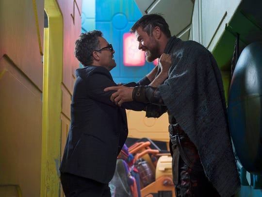 Bruce Banner (Mark Ruffalo, left) and Thor (Chris Hemsworth)
