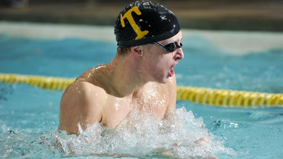A Tuscola swimmer competes in last week's Ironman meet in Skyland.