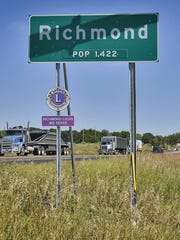 The sign marking the city limits of Richmond.