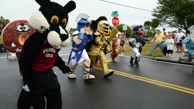 A mascot race Saturday was one of the highlights of the FLORIDA TODAY 5K and 8K in Melbourne.