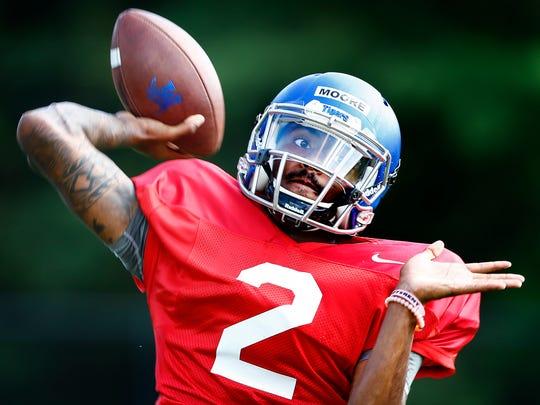 University of Memphis backup quarterback David Moore