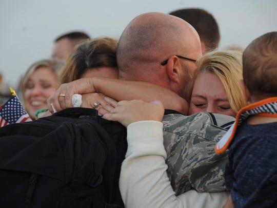 Barksdale Air Force Base Airmen return from Qatar.