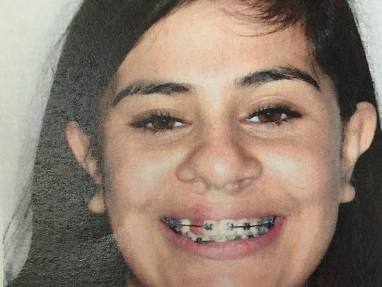 Once Danitz Guerra got her braces, pictured here in