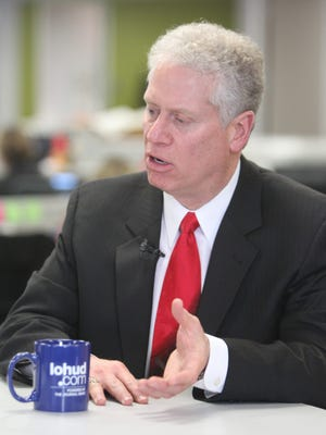 Westchester County Legislator Mike Kaplowitz, D-Somers, in a 2013 visit to The Journal News/lohud.com