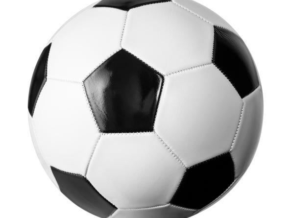 Soccer ball isolated on white with clipping path included