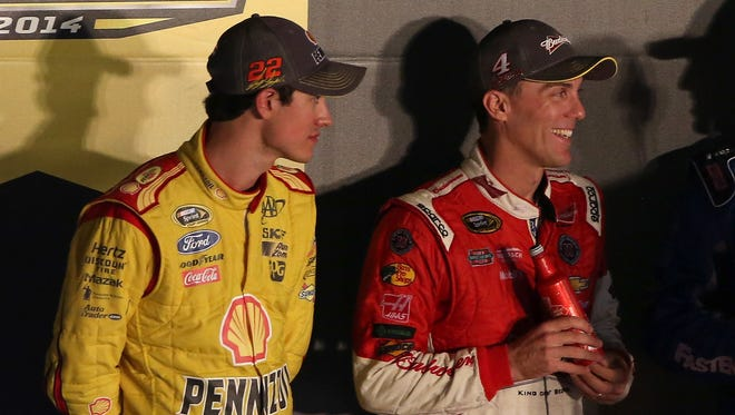 Both Joey Logano, left, and Kevin Harvick won races in the second round of the Chase for the Sprint Cup.