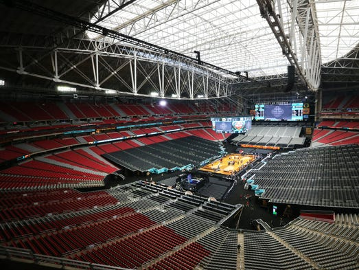 Final four scoreboard almost as wide as the court and as for How wide is a basketball court
