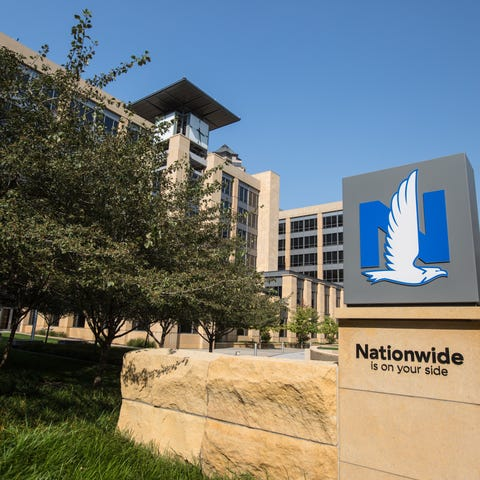 The Nationwide building in Des Moines Wednesday,...