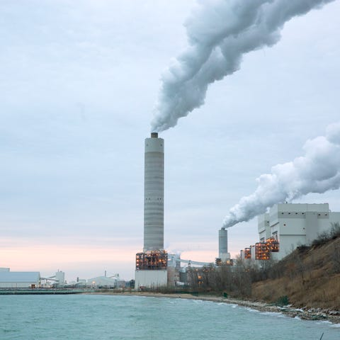 The We Energies Oak Creek Power Plant at 4801 E....