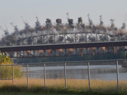 ANI Bridge Implosion