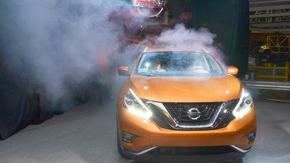 The crossover Nissan Murano, made in Canton, saw its February sales rise 3 percent over the same period last year.
