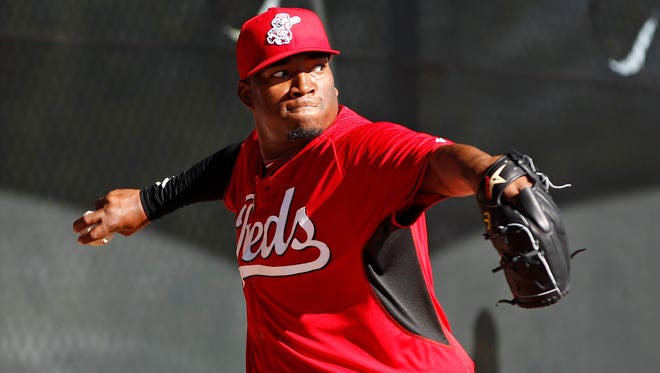"Cincinnati Reds pitcher Jose ""Jumbo"" Diaz"