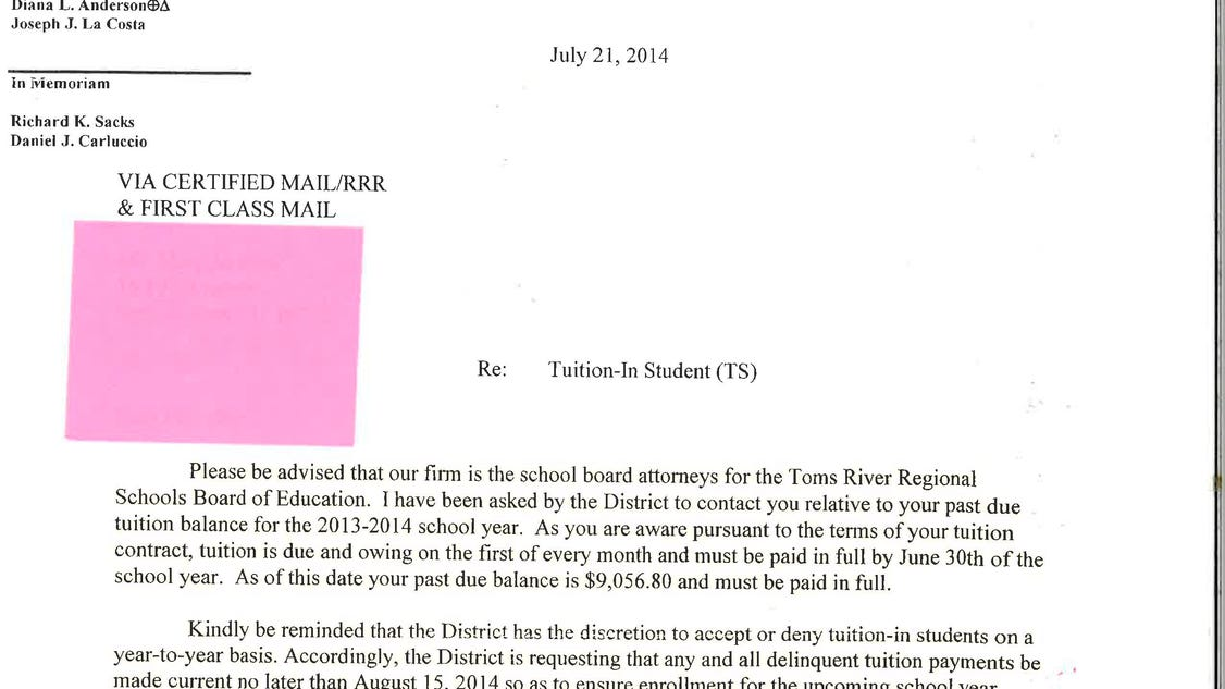 4 page letter seaside driven from toms river schools 52074