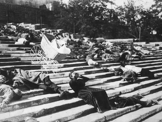 "A still from the Odessa Steps scene in ""Battleship"