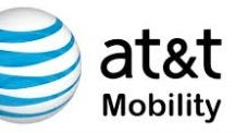 The logo of AT&T Mobility, the wireless portion of AT&T.