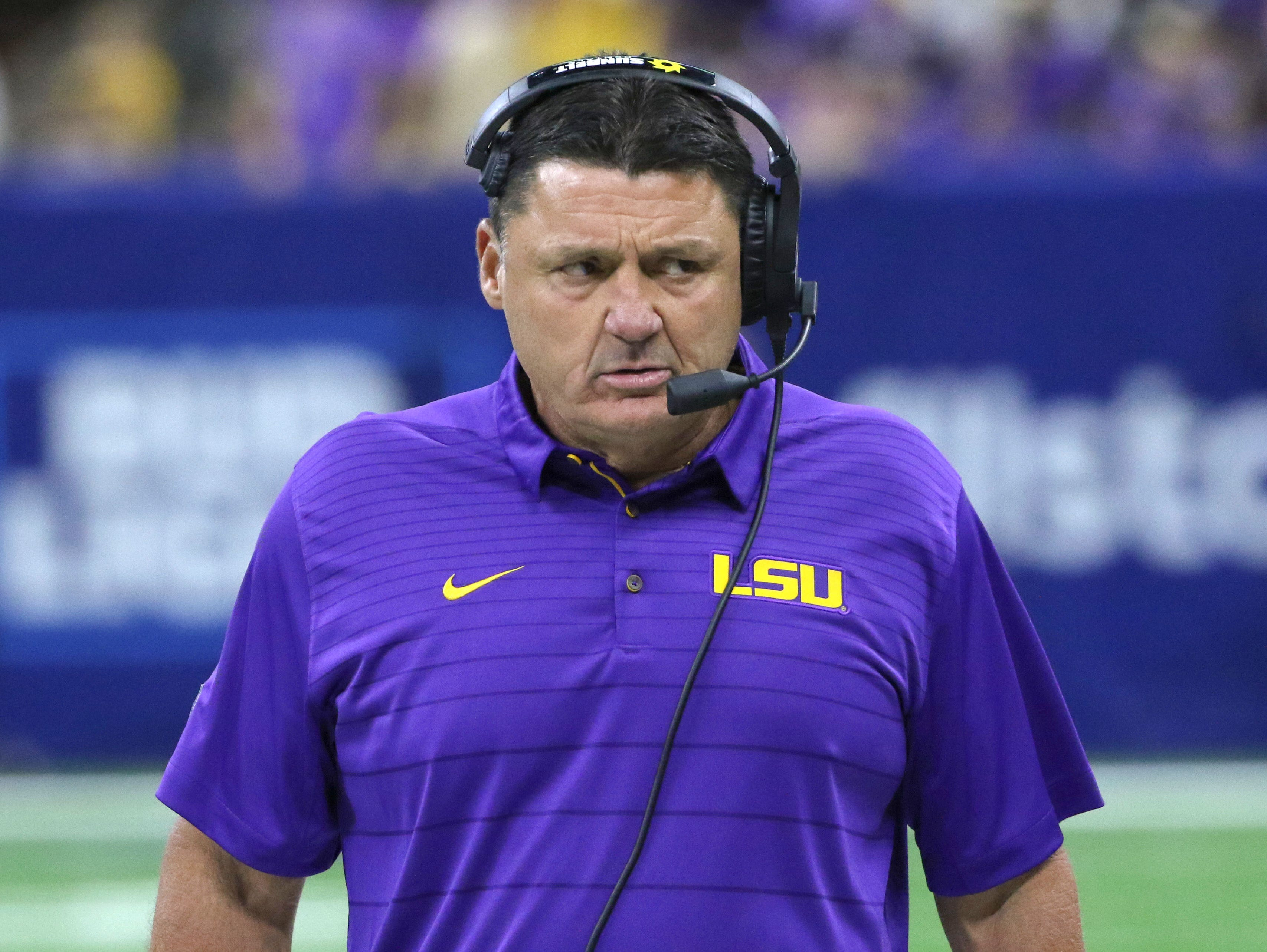 LSU coach Ed Orgeron is under fire after his team lost to Troy.