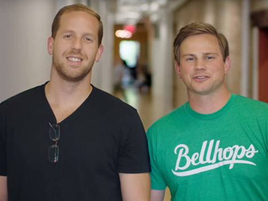 Bellhops founders Stephen Vlahos and Cameron Doody