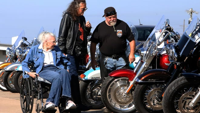 Arnie Jennings, from left, Kim Jennings and Billy Moore look over the Harley-Davidson motorcycles lined up for sale, Saturday, Oct. 10, during the Old Fort Harley-Davidson Oktoberfest at the S 36th Street dealership. The annual event included live music from Sons of Turner, German food, beer tent and motorcycle vendors. OFHD will hold a Tank or Treat event, Saturday, Oct. 31, starting at 11 a.m. and will feature live music by Marcia Brady, best-decorated bike contest and candy for kids.