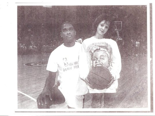 Michelle Markland, 14, was a Detroit Pistons ball girl