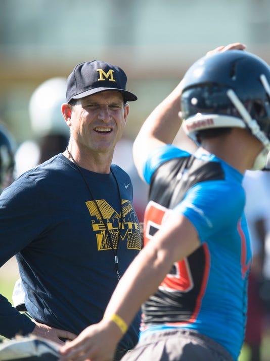 AP MICHIGAN HARBAUGH CAMP FOOTBALL S FBC USA AL