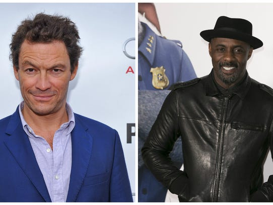 Dominic West, left, and Idris Elba voice the sea lions