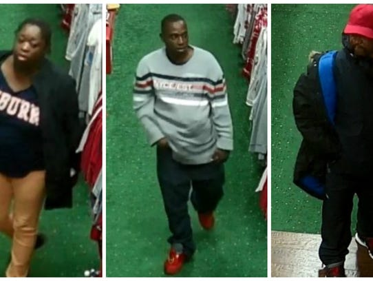 These three were seen stealing from a Bama Fever Tiger