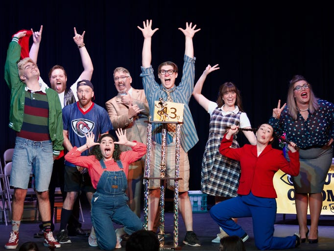 "The cast of ""25th Annual Putnam County Spelling Bee"""