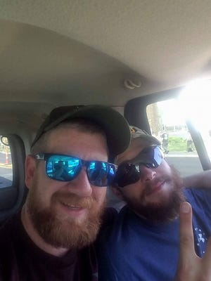 Edward Prince (left), 29, is a Fannett-Metal High School graduate who assisted the victims in the Las Vegas shooting. Prince was in the area to raise awareness for veteran suicide, when he heard the gunshots go off.