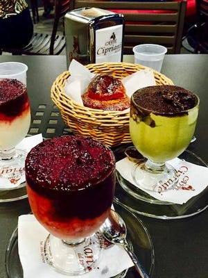 Bishop Raica tempted me with this image of granita and brioche in Acireale, Sicily.