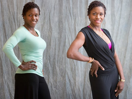 Cherylann Howard, before (left) and after her Hot Mama makeover