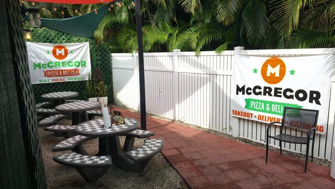 McGregor Pizza opened its 20-seat patio area earlier this month in Fort Myers.